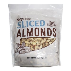 California Sliced Almonds 2 Lb Bag