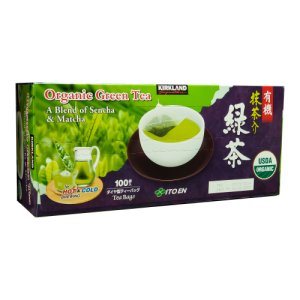 Kirkland Signature Organic Green Tea Matcha Blend 100 ct