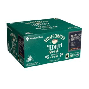 Members Mark Medium Roast Decaffeinated Single Serve Cups 80 Ct