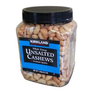 Kirkland Signature Unsalted Whole Fancy Cashews 2.5 lb